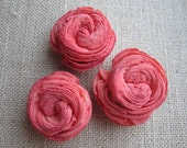 Sola Swirl flowers  -- SET of 12 -- Coral