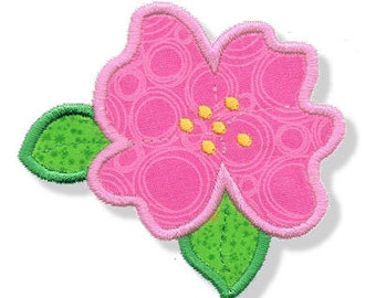 Hibiscus Applique 3 Sizes - Machine Embroidery
