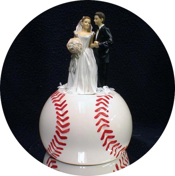 Top Baseball Cakes: Baseball Softball Sports Lovers Wedding Cake By YourCakeTopper