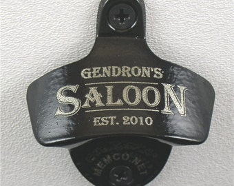 Personalized Bottle Opener - Engraved Wall Mount Bottle Opener - Beer Opener - Groomsman Gift - Groomsmen Gifts - NO capcatcher
