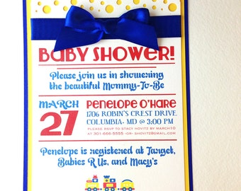 Baby Shower! Custom invitations in Primary Colors