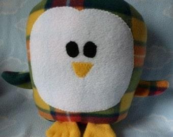 Plush Plaid Penguin Pillow Pal