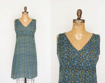 SALE vintage 1970s Dress - 70s Dress - Tiny Floral Print Sundress