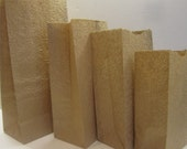 "Embossed Kraft Paper Bags of 40 Shabby Chic Vintage  8 x 4 x 2 3/4 "" Wedding / party favors / gifts wrap /  kraft"