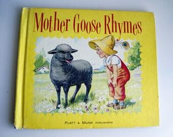 Mother GOOSE Rhymes Vintage Childrens Book