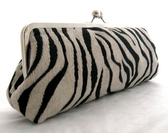 Long Clutch: Zebra