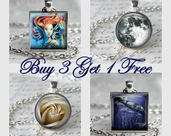 Buy 3 Get 1 FREE - Pendant Sale - Necklace Sale - Free Chain or Keyring