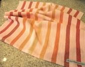 Striped Pink, Orange, Red, Green Handwoven Cotton Dish Towel