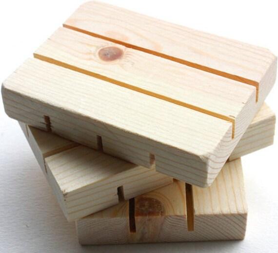 "50 Soap Dish 4.5""x2.5"" Premium Draining 100% Natural Pine Wood Soap Saver Holder Tray Display Stand Deck Amish USA Made, Wholesale Ecofriend"