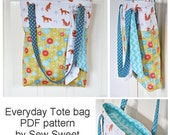 Miss Foxy 'Everyday Tote bag' PDF sewing pattern