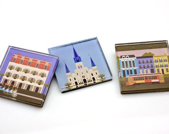 Set of 3 New Orleans Magnets