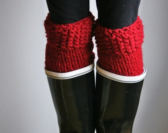 Boot Warmers Leg Warmers:Cranberry/THE POLAR WARMERS