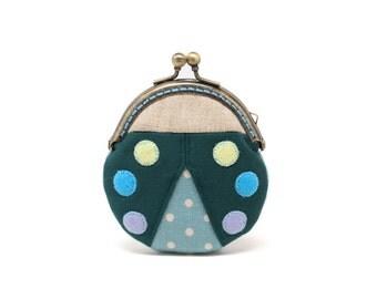Magical ebony beetle mini coin purse