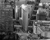 New York City Photography - New York Skyline,  NYC Black and White Photography, Aerial View Manhattan, Big Apple