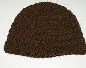 Brown Boys Beanie Hat Sizes Preemie-12 Years Perfect for a Gift.