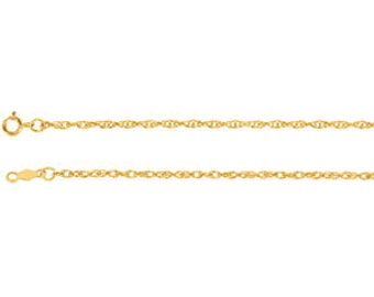 14kt yellow gold rope chain 1.5mm