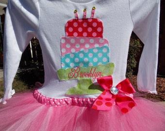 EXCLUSIVE  Birthday Applique Tutu Tshirt Dress for Children by Bubblebabys, First Birthday  birthday tutu