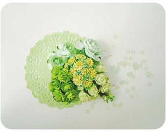 Mixed Sample Mulberry paper flower and paper doily combo / pack