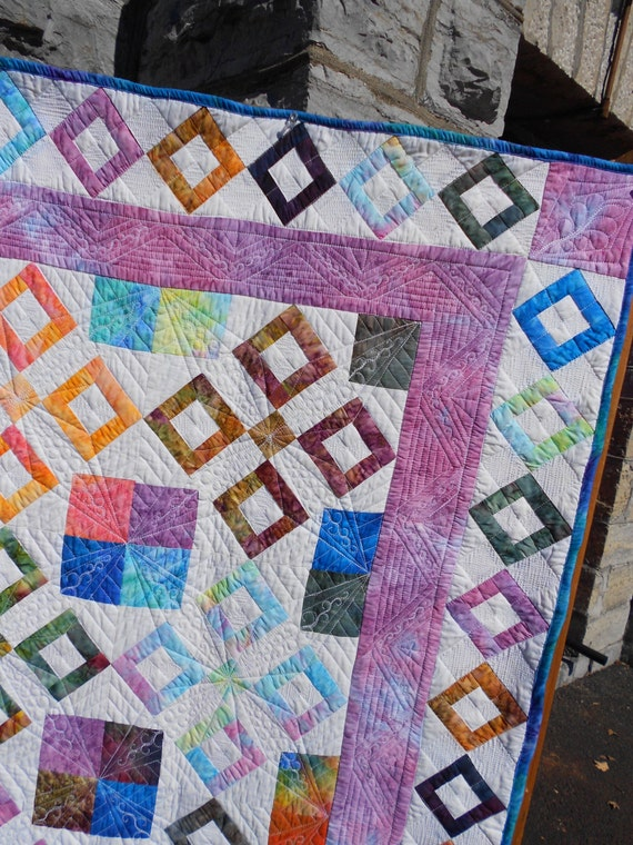 Intermediate Quilting Patterns : Quilt Pattern - Celtic Landing - Throw size - Intermediate level - PDF INSTANT DOWNLOAD from ...