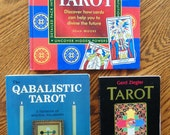 3 AWESOME BOOKS On TAROT Qabalistic Tarot Robert Wang Tarot Mirror Of The Soul Gerd Ziegler Amazing Book Of Tarot Joan Moore