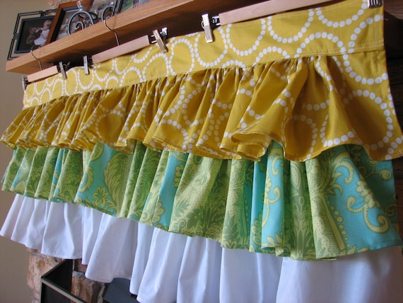 Custom Ruffle Valance with 3 Tiers