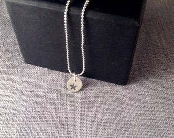 Tiny Silver Star Necklace -  Sterling Silver Star Pendant with chain - Graduation Gift - Gift for Female