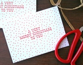 A Very Merry Christmas to You / Letterpress Printed Card / Set of 6