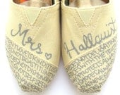 The Hallquist - Gray and Cream Custom Wedding TOMS