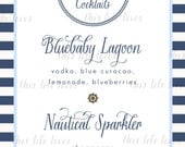 Nautical Baby Shower Menu