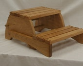 Child's Folding Step Stool Bench