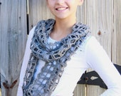 INSTANT DOWNLOAD Lacy Infinity Scarf Crochet Pattern- Pattern Only