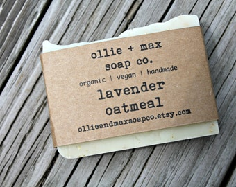Lavender Oatmeal Vegan Soap, Organic Soap, Cold Process Soap, Hand Made Soap, Essential Oil Soap