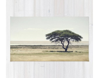 African Tree Landscape Photography Rug