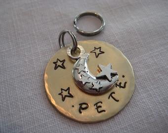 Pet Tag-Stars and Moon