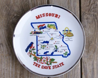 Vintage Missouri State Collector's Plate