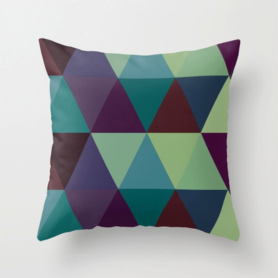 Throw Pillow Color Combinations : Throw Pillow Cover 17% Off Triangles Color Combinations