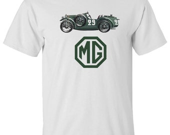 MGB VINTAGE T-Shirt. S,M,L,XL. White, Ash Grey  100% Cotton