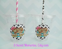 Set of 24-Sheriff Callie Themed Party Cups, Lids & Straws