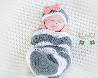 Newborn Chevron Sack Set, boy or girl, Made-to-Order photo prop