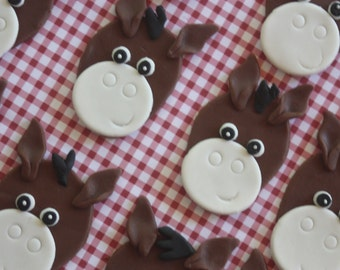 12 fondant cupcake toppers--horses