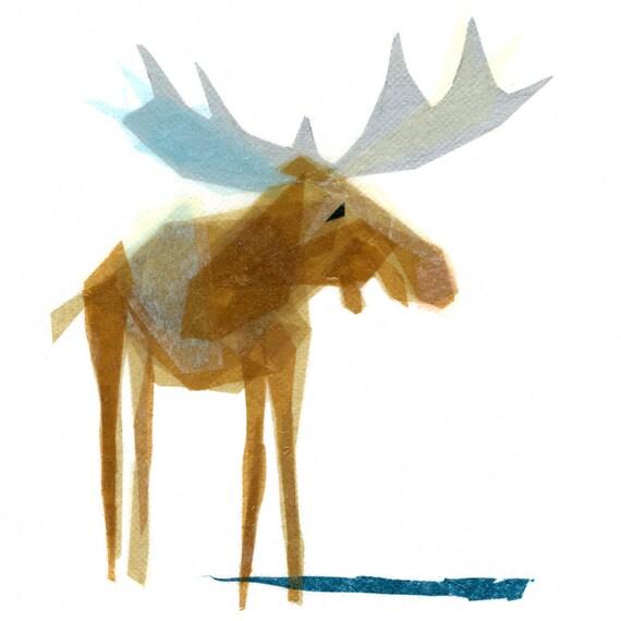 Heathcliff Moose - Animal Art Print