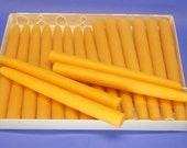 Beeswax Candles, 7 Pair of 3/4 x 8 Bees Wax Tapers, Hand Dipped Taper Candles, Hand-Dipped Tapers, Natural Beeswax Candles, Epic Beeswax