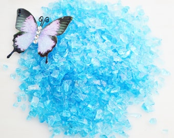 Light Blue Small Glass Chips - Beach - Glass - Crafting - Beach Decor - Other Colors available  (5 oz bag) ~ Sea Glass Chips Only