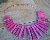Rhodolite Stone Necklace Pink and Gorgeous Vintage Southwestern