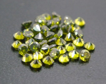 3mm Round CZ Olive Cubic Zirconia Loose Stones Lot