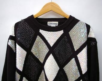 Diamond Sequin Sweater