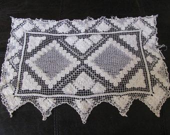 "Wonderful Handmade Crocheted Rectangle Doily 15"" x 10"" Inch"