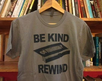 Be Kind Rewind VHS Tape Screen Printed T-Shirt
