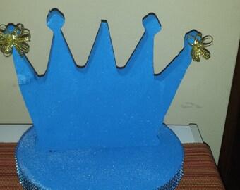 Custom crown   babyshower birthday lollipop cakepop  display centerpiece