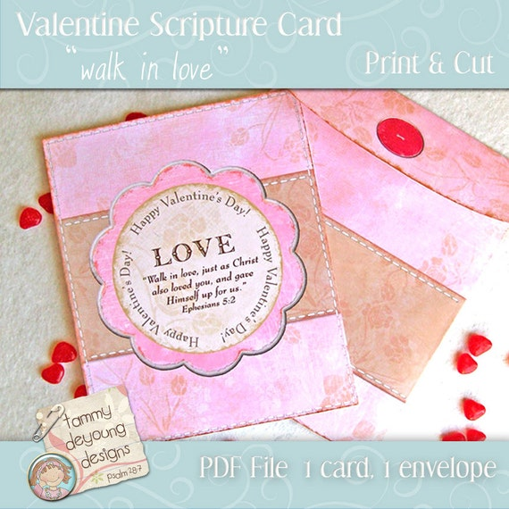 printable scripture cards valentine card with bible verse and envelope